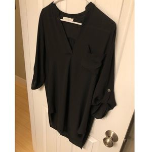 Black Tunic with Button Accents